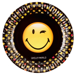 SmileyWorld Paper Plates 23cm - 10 PKG/8