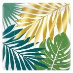 Key West Square Metallic Paper Plates 26cm - 12 PKG/8