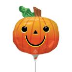 Smiley Pumpkin MiniShape Foil Balloons A30 - 5 PC