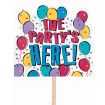 "Balloon Party ""Party Here"" Lawn Sign    - 6 PC"