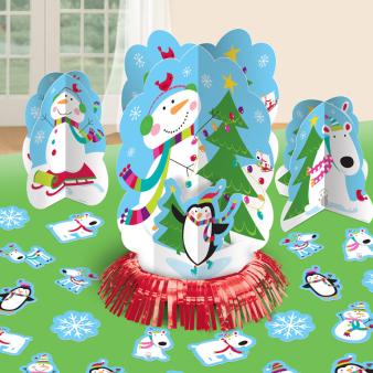 Joyful Snowman Christmas Table Decorating Kits - 9 PKG/4
