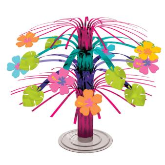 Hawaiian Hibiscus Mini Foil Cascade Centrepieces - 18 PC