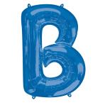 """Letter B Blue SuperShape Foil Balloons 34""""/""""86cm P50 - 5 PC"""