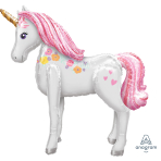 "Magical Unicorn AirWalker Foil Balloons 42""/106cm w x 46""/116cm h P93 - 5 PC"