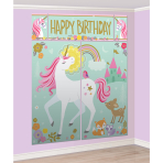 Magical Unicorn Wall Decoration Kits with Photo Props - 6 PKG/17
