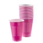 Bright Pink Plastic Cups 355ml - 20 PKG/50