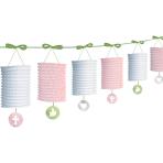 Pink Paper Lantern Garlands 3.65m - 6 PKG