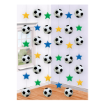 Football String Decoration  -12 PKG/6