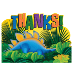 Prehistoric Party Postcard Thank You Cards    - 6 PKG/8