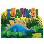 Prehistoric Party Postcard Thank You Cards    - 6 PKG/8