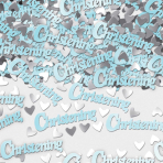 Christening Blue Metallic Confetti 14g - 12 PKG