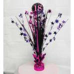 Pink Sparkling Celebration 18th Spray Centrepieces 33cm - 6 PC