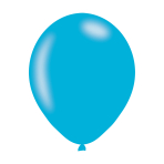 "Pearlised Caribbean Blue Latex Balloons 11""/27.5cm - 10PKG/10"