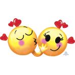 """Emoticons in Love SuperShape Foil Balloons XL 36""""/91cm w x 21""""/53cm h P35 - 5 PC"""