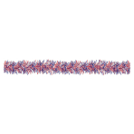 4th July USA Tinsel Decoration 2.74m - 12 PKG