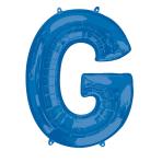 """Letter G Blue SuperShape Foil Balloons 34""""/""""86cm P50 - 5 PC"""