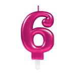 Pink Metallic Finish Candles #6 - 12 PC