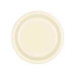 Vanilla Creme Plastic Plates 18cm - 10 PKG/10