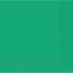 Festive Green Beverage Napkins 25cm - 12 PKG/50