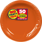 Orange Peel Plastic Plates 18cm - 6 PKG/50
