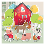 Barnyard Birthday Table Decorating Kits - 9 PKG/11