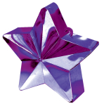 Purple Star Balloon Weights 150g/5oz - 12 PC