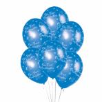 "Confirmation Blue Printed Latex Balloon     - 11""/27.5cm - 10 PKG/6"