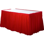 Apple Red Plastic Table Skirts - 6 PC