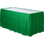 Festive Green Plastic Table Skirts 4.2m x 73cm - 6 PKG