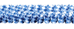 Bavarian Paper Blue & White Garlands 4m x 16cm - 10 PKG