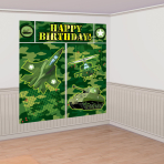 Camouflage Scene Setters Wall Decorating - 12 PKG/5
