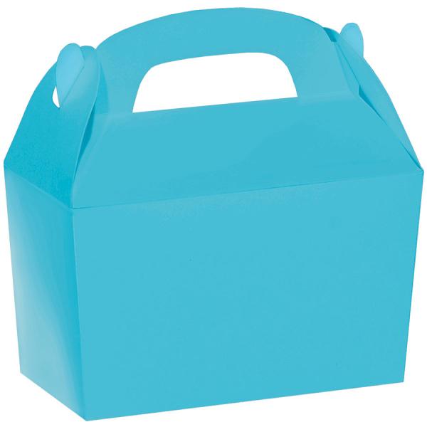 Caribbean Blue Favor Boxes : Caribbean blue gable boxes cm w l d
