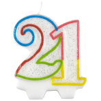 Milestone Birthday Candles 21st - 7.5cm - 6 PKG