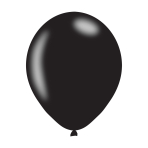 "Pearlised Black Latex Balloons 11""/27.5cm - 10PKG/10"