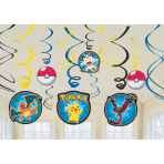 Pokémon Hanging Swirl Decorations - 6 PKG/12