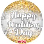 """Wedding Confetti Orbz Foil Balloons 15""""/38cm w x 16""""/40cm h G20 - 5 PC"""