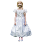 Pretty as a Princess Reversible Princess/Bride 2 in 1 Costume - Age 6-8 Years - 1 PC