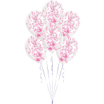 "Confetti Pink Latex Balloon Kits 11""/27.5cm - 6 PKG/6"