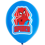 "Spider-Man 4 Colour Print Latex Balloons 11""/27.5cm - 6 PKG/6"
