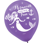 "Mermaid Wishes Latex Balloons 11""/27cm - 6 PKG/6"