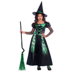Spider Witch Costume - Age 8-10 Years - 1 PC