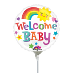 Welcome Baby Mini Foil Balloons A15 - 5 PC