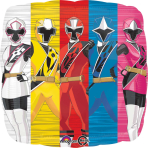 Power Rangers Happy Birthday Standard Foil Balloons S60 - 5 PC