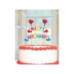 Rainbow Cake Pick Banner - 6 PC