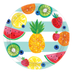 Fruit Salad Paper Plates 27cm - 12 PKG/8
