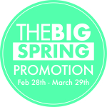 Big Spring Promotion Now On!