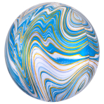 Blue Marblez Orbz XL Packaged Foil Balloons G20 - 5 PC