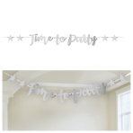 Time to Party Foil Finish Letter Banners 2.5m - 6 PC