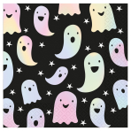Ghosts Holographic Luncheon Napkins 33cm - 6 PKG/16