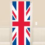 Great Britain Union Jack Plastic Door Sign 1.5m x 58cm - 6 PKG